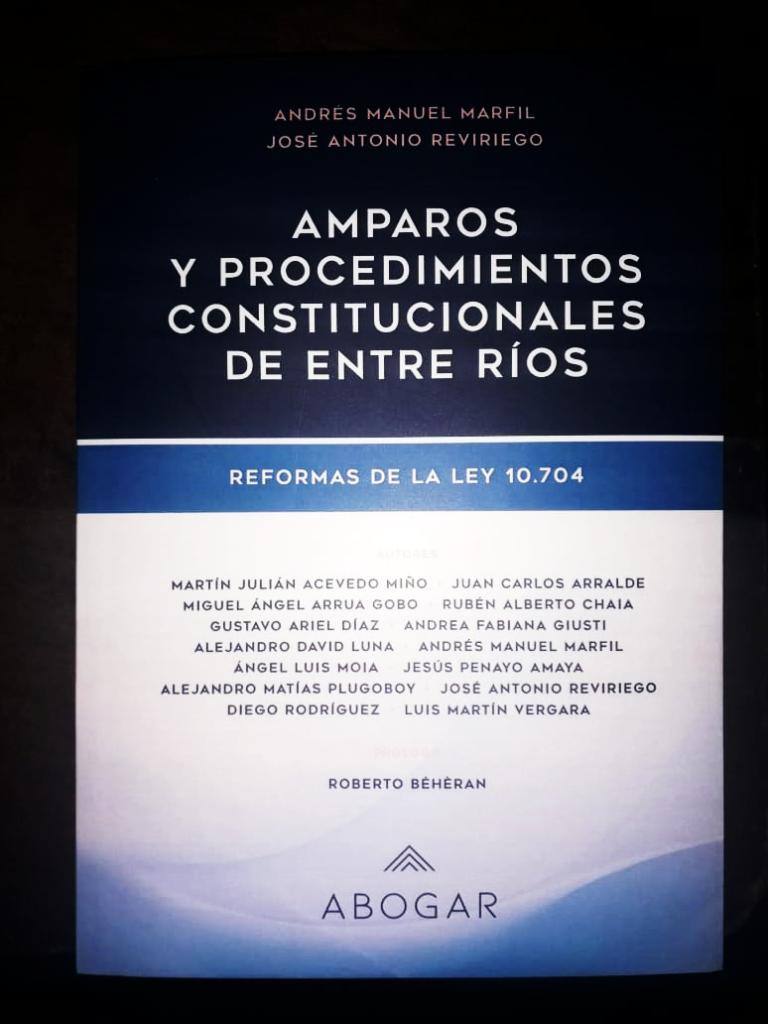 AMPAROS Y PROCEDIMIENTOS CONSTITUCIONALES DE ENTRE RÍOS